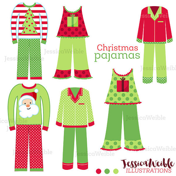Red clipart pajama #4