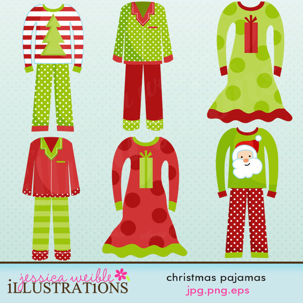 Red clipart pajama #6