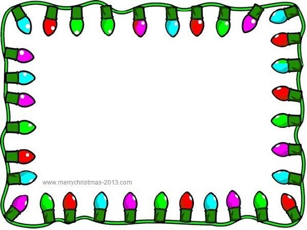Decoration clipart powerpoint Border Lights borders Free Clipart