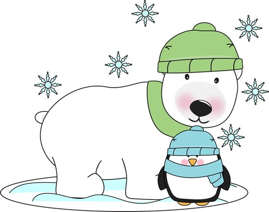 Winter clipart activites Penguins Polar Pinterest bear Clip