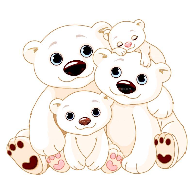 Teddy clipart family #2