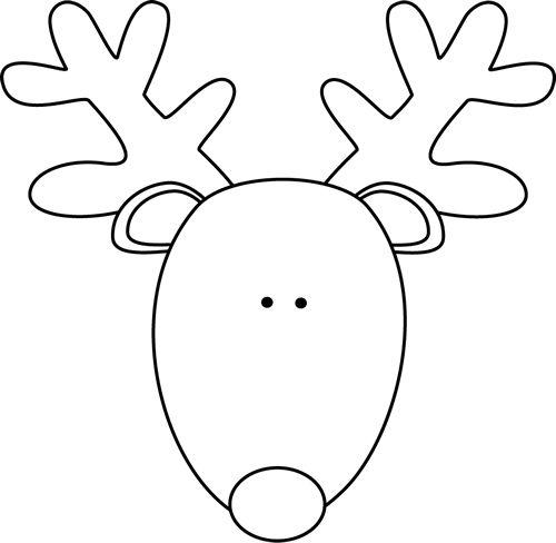 Drawn reindeer winter Head 500×488 Pinterest pixels Reindeer