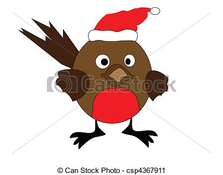 Drawn robin Stock illustration an Clipart robin