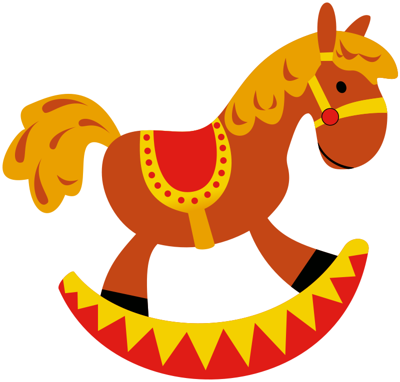 Blur clipart rocking horse Free Clip Download Use Cartoon