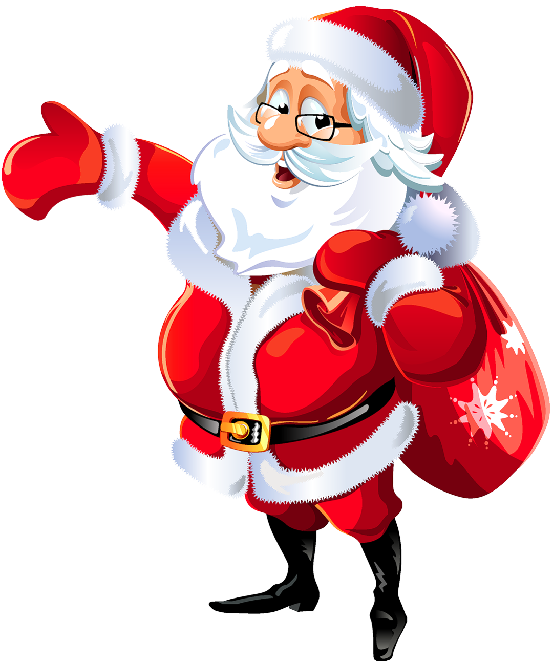 Santa clipart transparent background #10