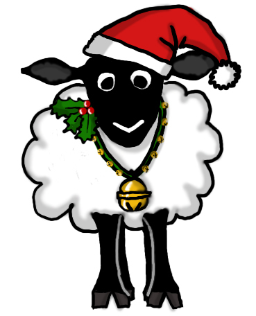 Sheep clipart christmas #15