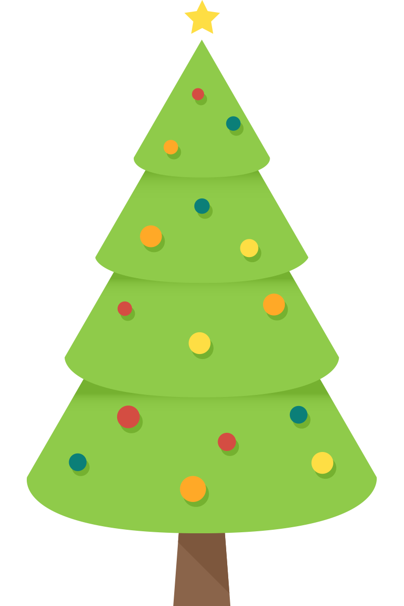 Christmas Tree clipart simple Domain to Simple Free Art