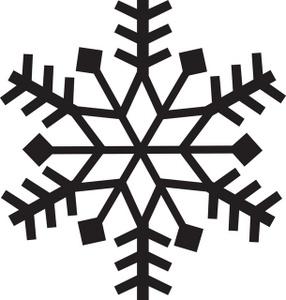 Snow clipart simple snowflake Large Christmas snowflake clipart transparent