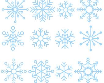 Wind clipart snowflake Digital Clip Snowflakes Digital Cute