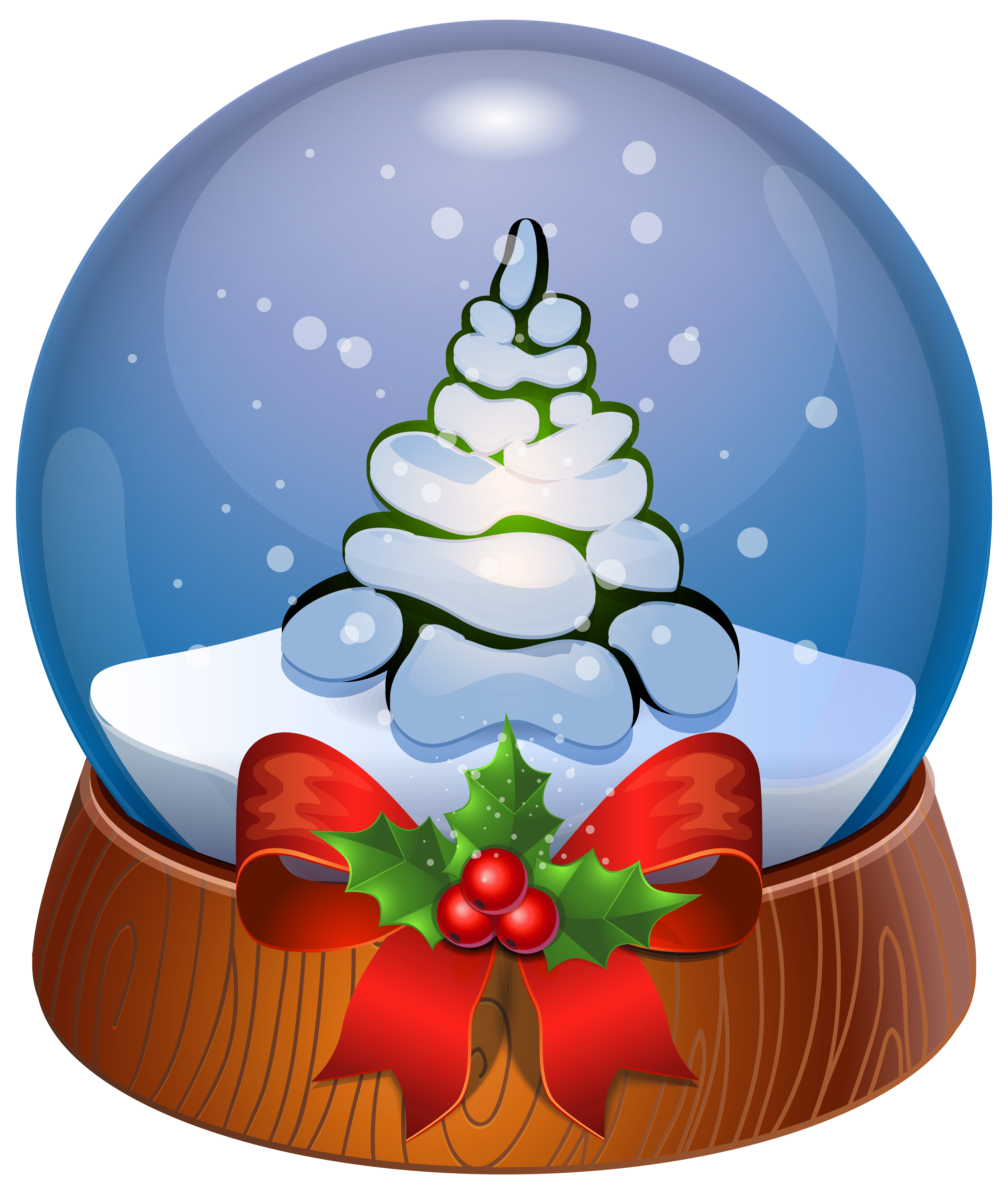 Beach clipart snow globe View PNG full Christmas Image