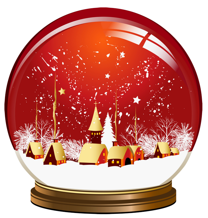 Beach clipart snow globe WINTER Red PNG Christmas PNG