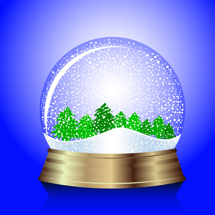 Beach clipart snow globe Christmas clipart Snow With collection