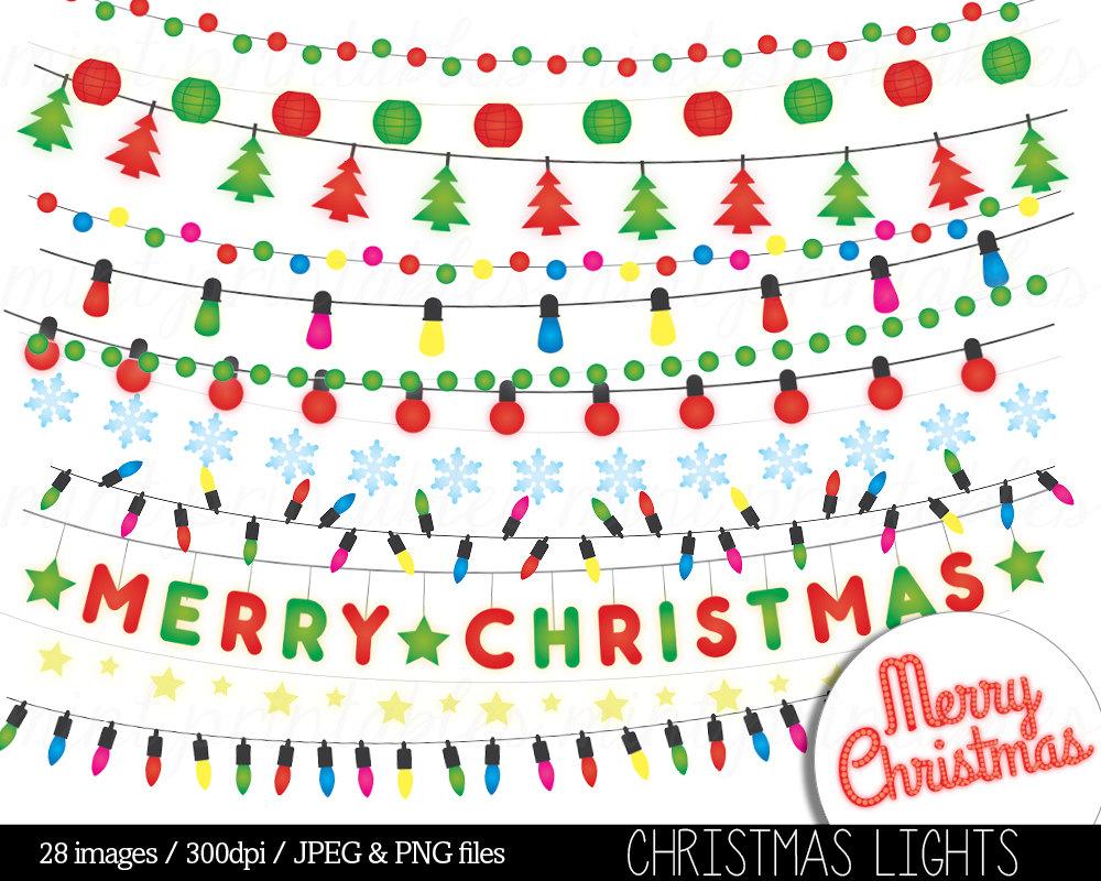 Christmas clipart string light Lights file  digital Lights