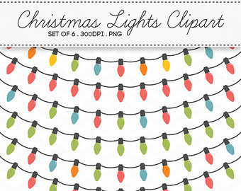 Lights clipart christmas light strand Christmas Clipart of Digital INSTANT