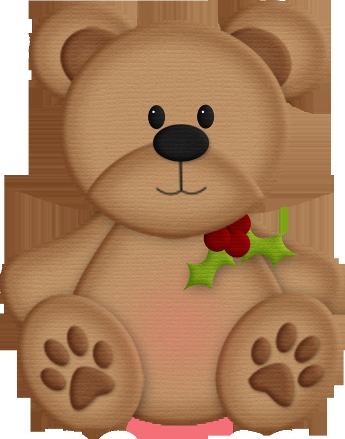 Brown Bear clipart soft toy TEDDY BEAR  CHRISTMAS ART
