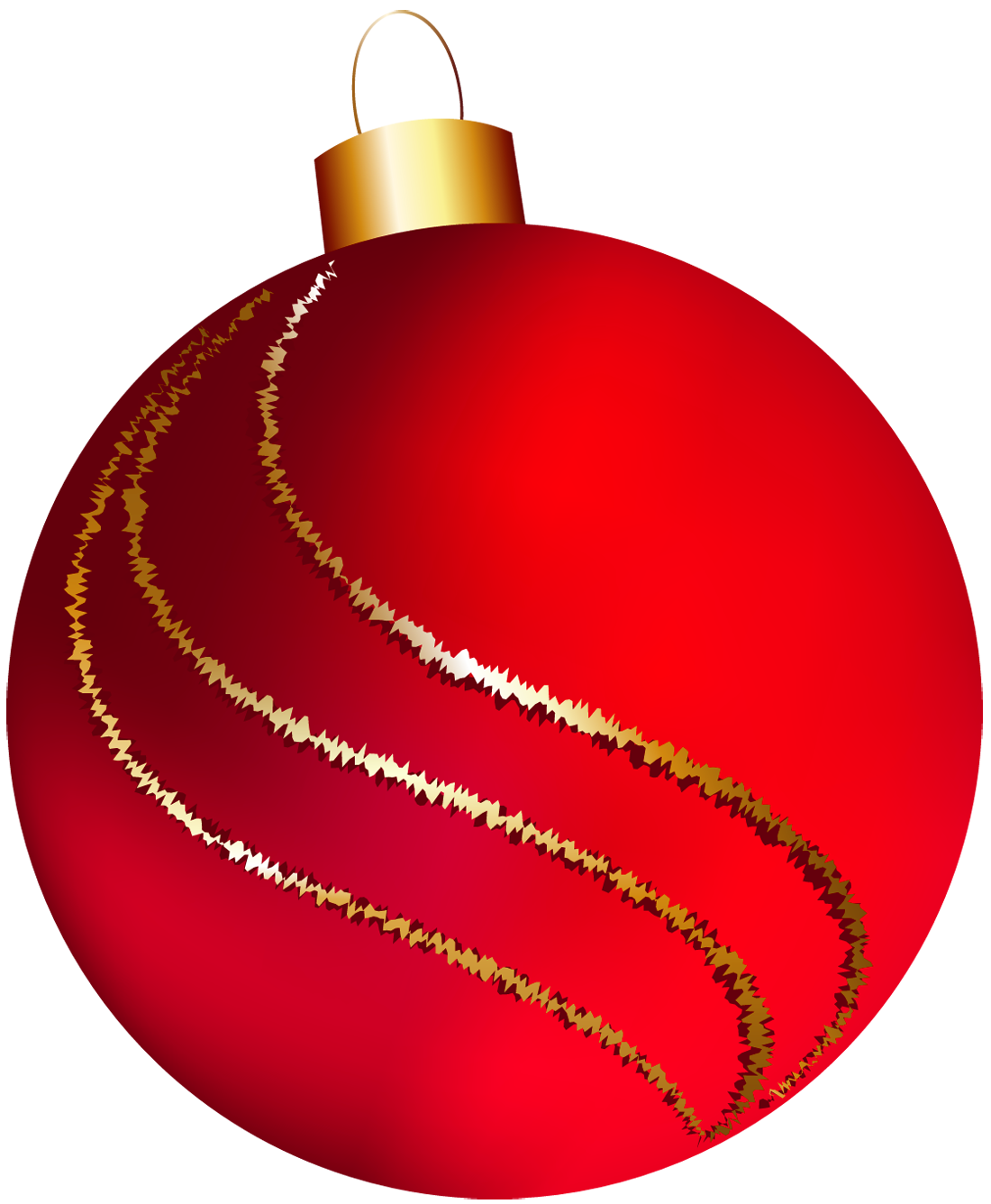 Red clipart christmas ball #5