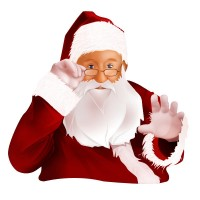 Santa clipart transparent background #4