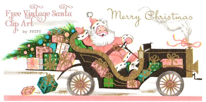Santa clipart vintage #2