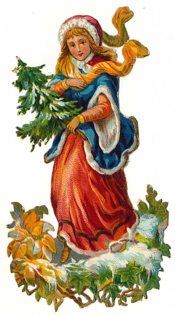 Pine Tree clipart victorian christmas Blog Clip vintage Art Christmas