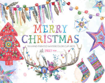 Christmas clipart watercolor Clipart Christmas clipart tree Christmas