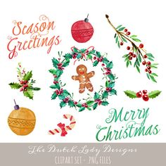 Christmas clipart watercolor Files Images 12 17 hand