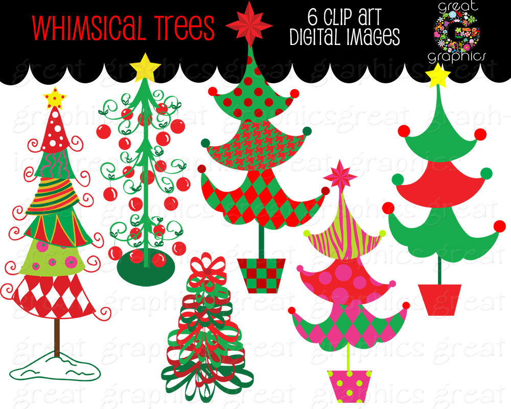 Christmas Tree clipart funky Christmas Clipart Download Tree Art