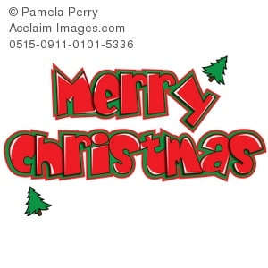 Christmas clipart word art A christmas merry of Christmas