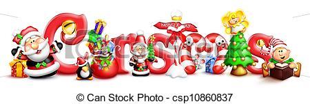 Christmas clipart word art Christmas Christmas Characters Whimsical Whimsical
