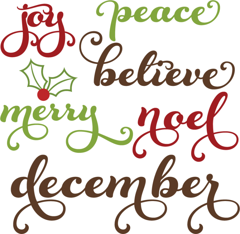 Christmas clipart word art Cutting Animated  Collection SVG