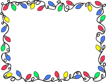 Frame clipart strawberry Lights Clipart Clipart Christmas clipart