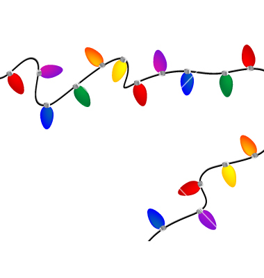 Lights clipart cartoon Clipart border Christmas #22560 Light