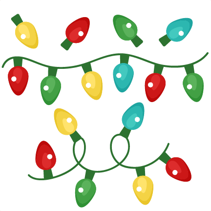 Christmas Lights clipart cute Clipart for files Winter file