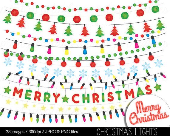 Christmas Lights clipart merry christmas Colored 2 Lights 1 Lights