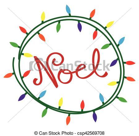 Christmas Lights clipart noel Clipart Vector csp42569708 Noel Lights