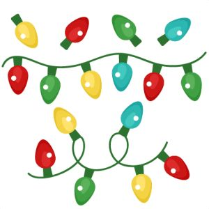 Christmas Lights clipart old fashioned Cute file files Set on