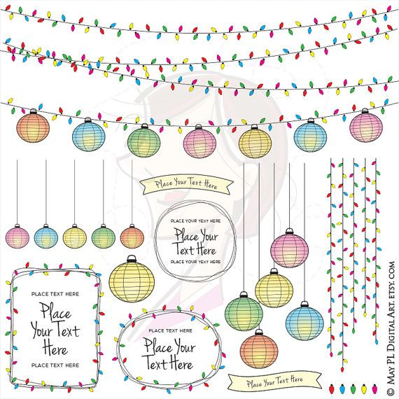 Christmas Lights clipart old style Colorful Lighting Clip Lights ideas