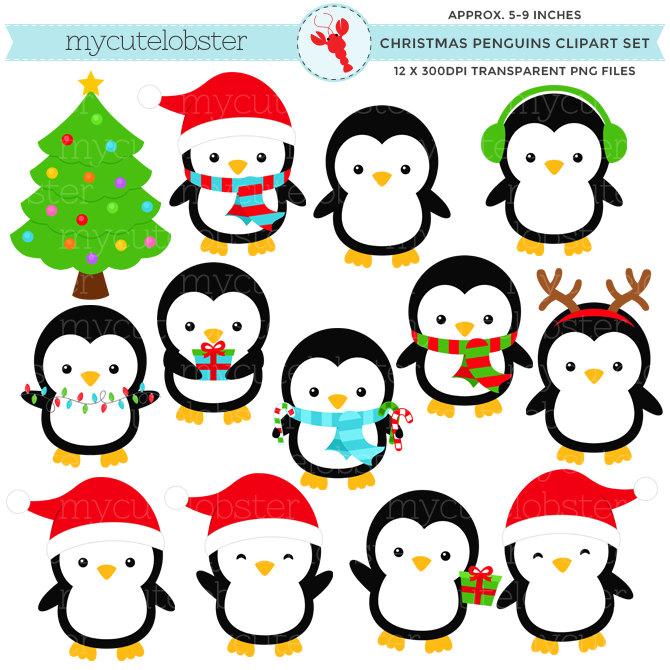 Penguin clipart holiday Clip penguin Holiday penguin art
