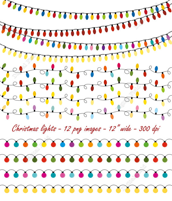 Lights clipart christmas light strand Items to lights lights set