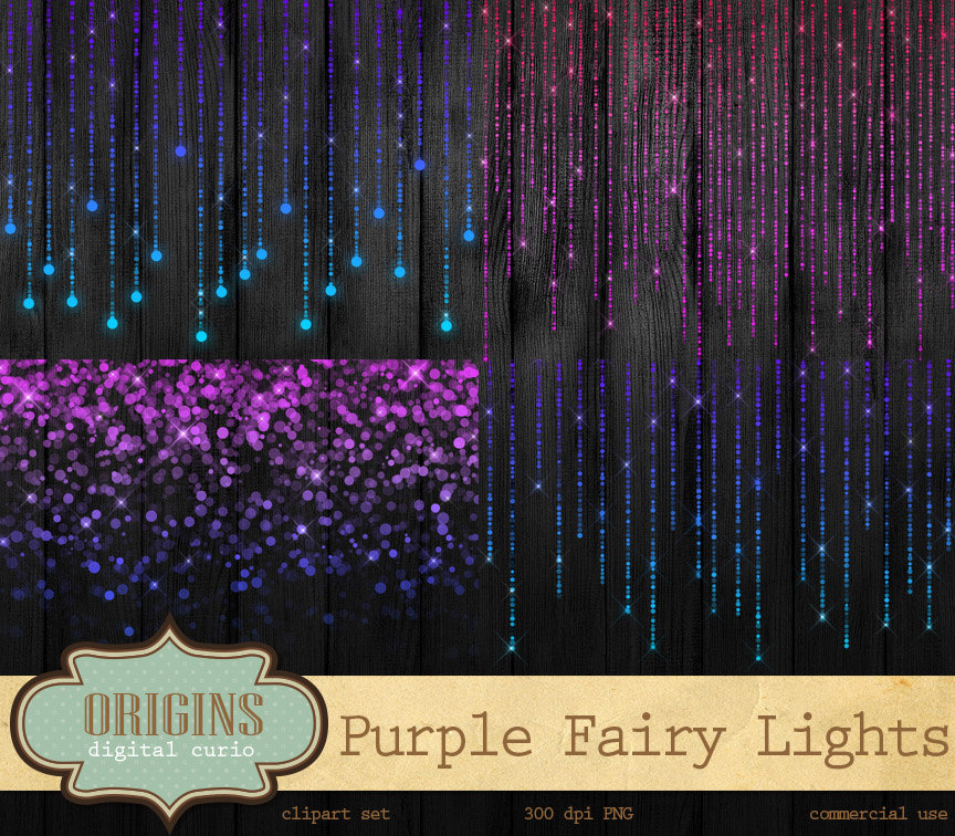 Christmas Lights clipart purple Is Sparkling Clip String a