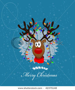 Reindeer clipart christmas light #15