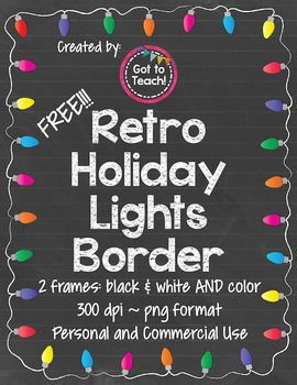 Christmas Lights clipart realistic Documents up Pinterest best Borders