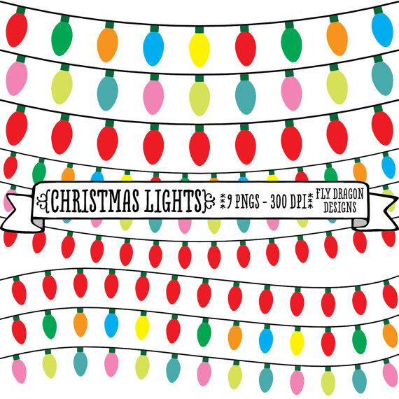 Christmas Lights clipart vintage Borders lights clipart Christmas Christmas