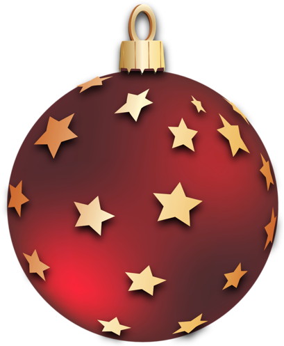 Christmas Ornaments clipart Ball with Stars 3D Christmas