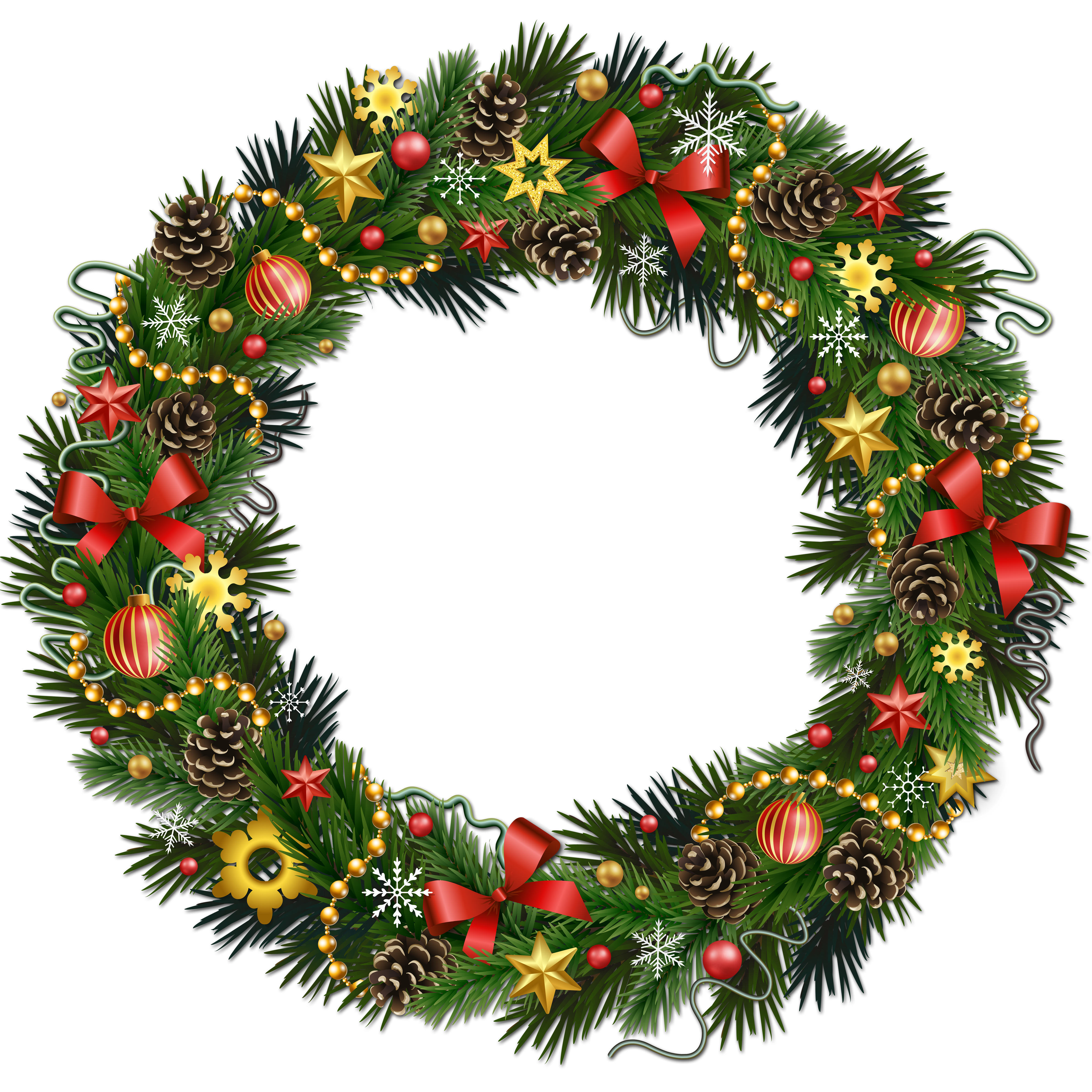 Wreath clipart transparent background Christmas wreath pinecone clipart holly