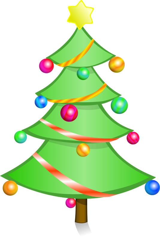 Christmas clipart transparent Holiday Bright Christmas Tree Clipart