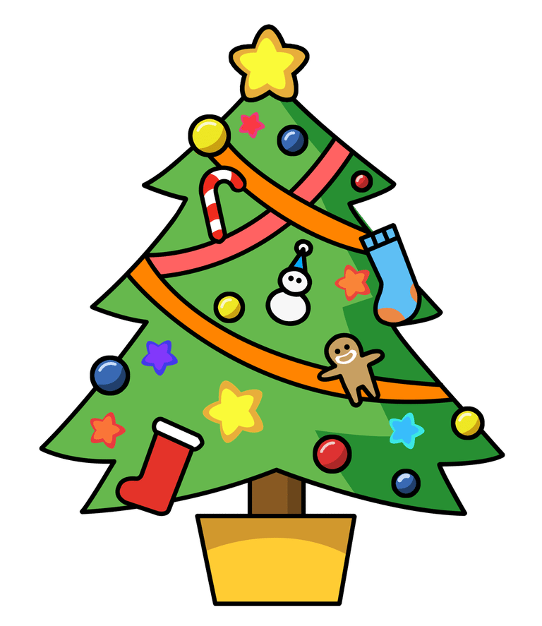 Christmas Tree clipart Clip Free ornaments with Art