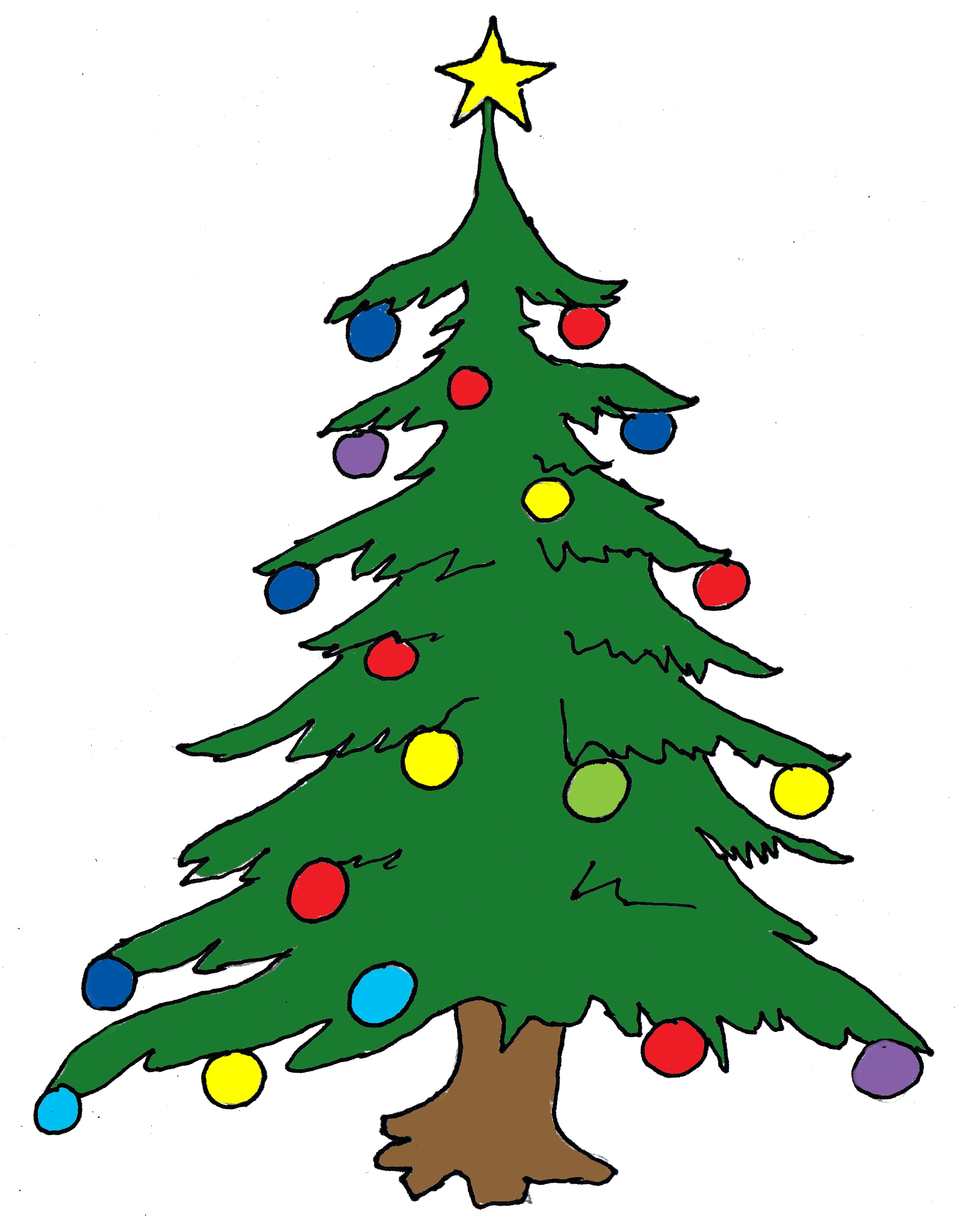 Holley clipart christmas tree light Art Clipart Images Tree Free