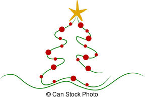 Christmas Tree clipart abstract 194 Art Illustrations Stock and