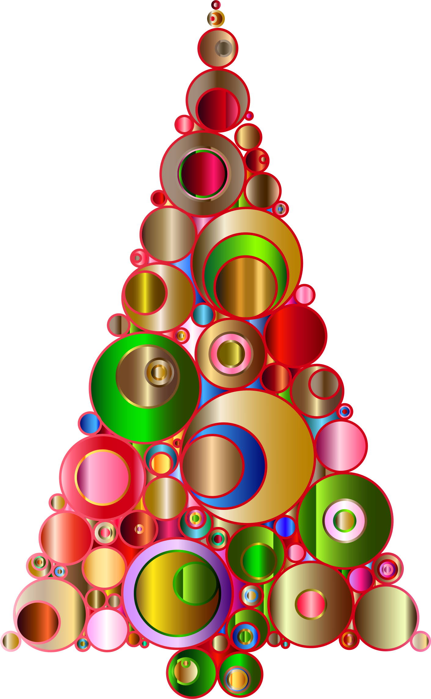 Christmas Tree clipart abstract Circles 2 Abstract 2 Colorful