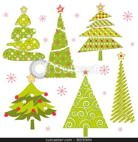 Christmas Tree clipart abstract Vector stock of tree Christmas